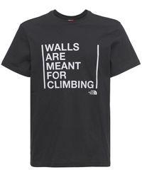 The North Face T-shirt Mit Druck - Schwarz