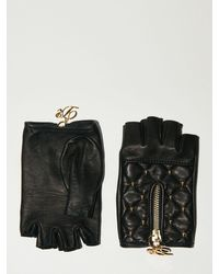 DSquared² Lvr Exclusive Fingerless Leather Gloves - Black