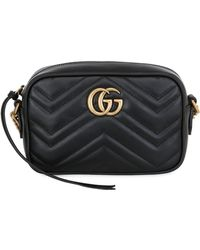 ad1dc5fdfaf Gucci - Mini Gg Marmont 2.0 Leather Camera Bag - Lyst
