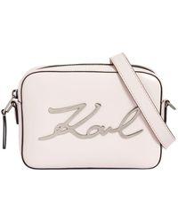 Karl Lagerfeld - K/signature Leather Camera Bag - Lyst