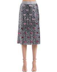 COACH スパンコールスカート - マルチカラー