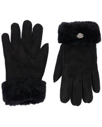 Parajumpers Woman's Shearling Gloves - Black