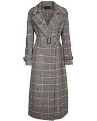 Weekend by Maxmara Double Wool Prince Of Wales Coat - Multicolour