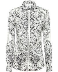 Etro ストレッチコットンシャツ - ホワイト