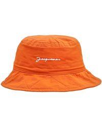 Jacquemus Le Bob Picchu コットンバケットハット - オレンジ