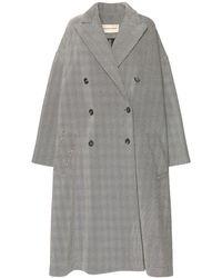 Alexandre Vauthier Oversize Wool Blend Coat - Grey