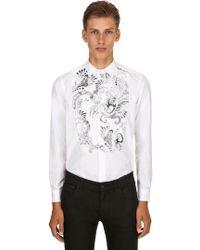 Etro - Camicia In Popeline Di Cotone - Lyst