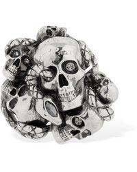"Alexander McQueen Anello ""skull & Snake"" - Metallizzato"