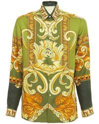 Versace - Шелковая Рубашка С Принтом Medusa Renaissance - Lyst