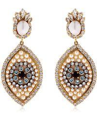 Shourouk | Eye Crystal & Pearl Earrings | Lyst