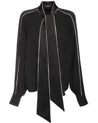 Rochas サテンシャツ - ブラック