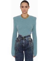 Alberta Ferretti - Angora Blend Knit Sweater - Lyst