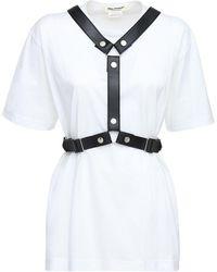 Junya Watanabe Oversize Cotton Jersey T-shirt W/harness - White
