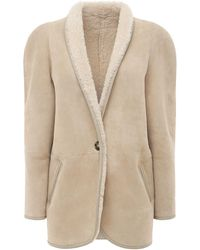 "Étoile Isabel Marant Giacca ""axou"" In Shearling - Neutro"