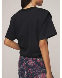 Isabel Marant Zelikia ジャージーtシャツ - ブラック