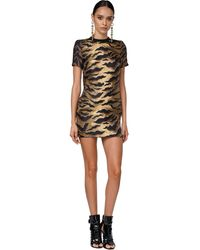 DSquared² Vestido De Sarga De Seda Con Estampado - Multicolor