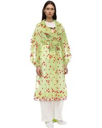 Moncler Genius Simone Rocha Floral Tulle Trench Coat - Green