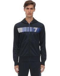 """EA7 Trainingshose Und Sweatshirt Aus Acetat """"train 7"""" - Blau"""