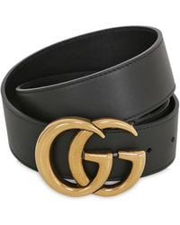Gucci - 40mm Gg Leather Belt - Lyst
