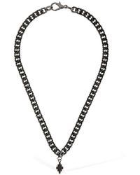 Marcelo Burlon Cross Logo Short Chain Necklace - Black