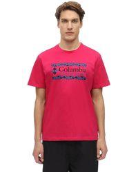 Columbia Rapid Ridge Graphic コットンtシャツ - ピンク