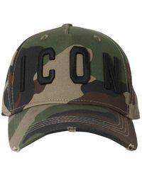 DSquared² Icon Cotton Canvas Baseball Hat - Green