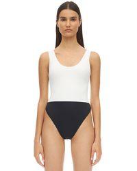 AEXAE Bodysuit Lycra One-piece Swimsuit - White