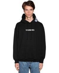 Vetements Logo Hoody - Black