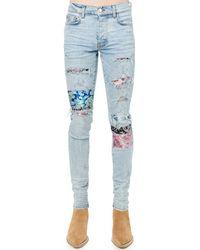 Amiri Jeans Aus Baumwolldenim Mit Patch - Blau