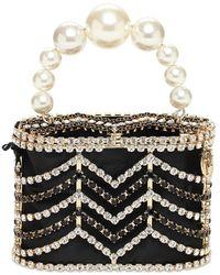 Rosantica Embellished Holli Chevron Top-handle Bag - Black