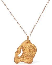 Alighieri Rooster Zodiac Charm Chain Necklace - Mettallic