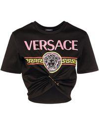 Versace - コットンジャージークロップtシャツ - Lyst