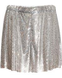 Paco Rabanne Mini Mesh Shorts - Metallic