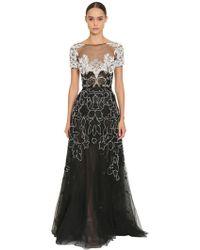 Zuhair Murad - Long Embroidered Tulle Dress - Lyst