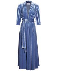 Luisa Beccaria ベルベットドレス - ブルー