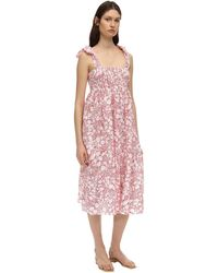 Marysia Swim Sicily Shirred Broderie-anglaise Cotton Dress