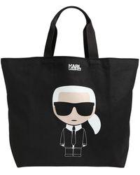 Karl Lagerfeld - K/ikonik Karl キャンバストートバッグ - Lyst