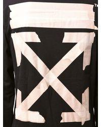 Off-White c/o Virgil Abloh Langarm-shirt Aus Jersey Mit Druck - Schwarz
