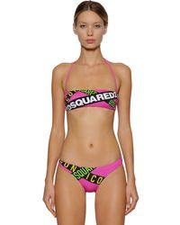 DSquared² Top Bikini In Lycra - Multicolore