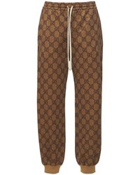 Gucci Technical Knit Logo Jogging Bottoms - Brown