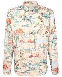Etro - Хлопковая Рубашка С Принтом - Lyst
