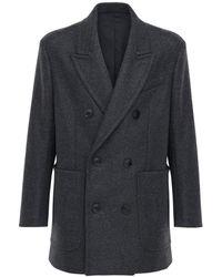 AMI Шерстяное Пальто - Многоцветный