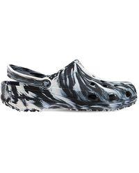 Crocs™ Classic Marble Printed Sandals - Black
