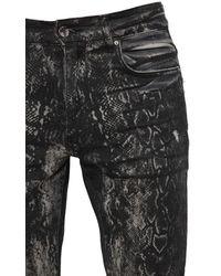 Amiri 15cm Jeans Aus Denim Mit Laserdruck - Grau