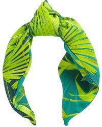 Versace Diadema Con Estampado - Verde