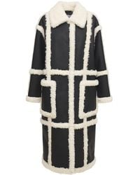Stand Studio Delia Faux Shearling Coat - Black