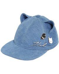 Karl Lagerfeld - Choupette Cat Ears Denim Hat W/ Pins - Lyst