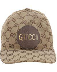 """Gucci Cappello Baseball """"Gg"""" In Tela Di Cotone - Neutro"""