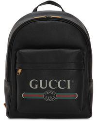 Gucci レザー バックパック - ブラック