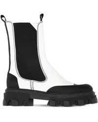 Ganni Кожаные Ботинки-комбат 45mm - Черный